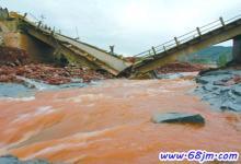 梦见洪水桥倒塌、洪水桥断