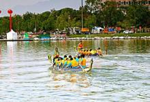 梦见在龙舟比赛中划船